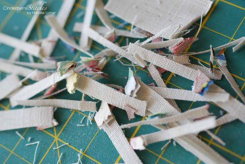 Charm square linen scraps