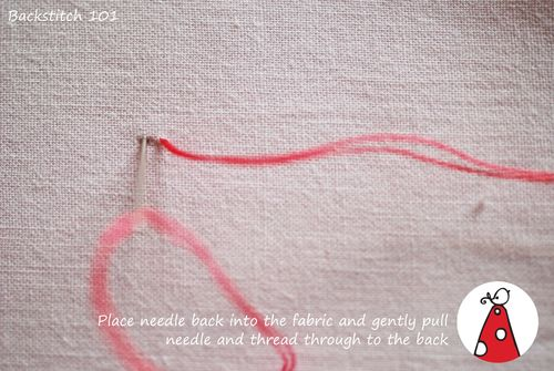 Backstitch 101 step2