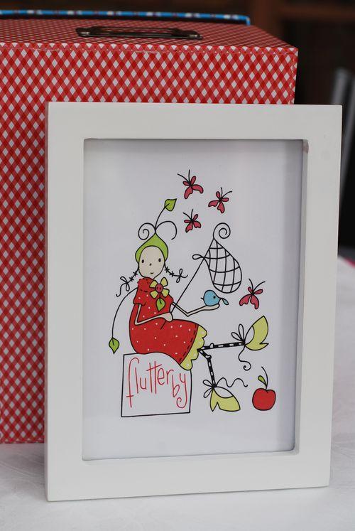 Flutterby girl framed