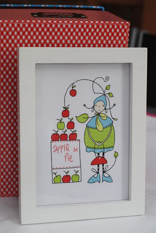 Apple Pie girl framed