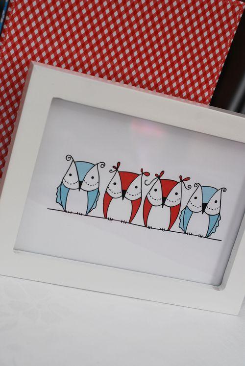 Owls framed